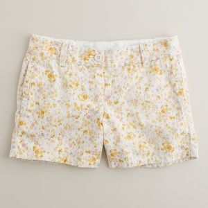 NWT J.CREW Floral Broken-In Chino Summer Shorts